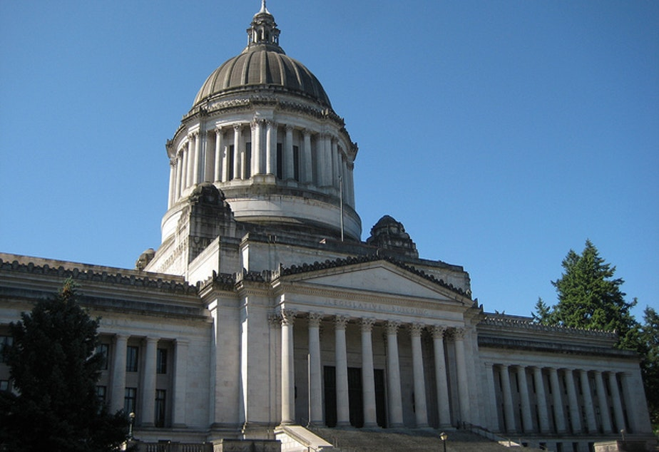 caption: The Washington State Capitol in Olympia.