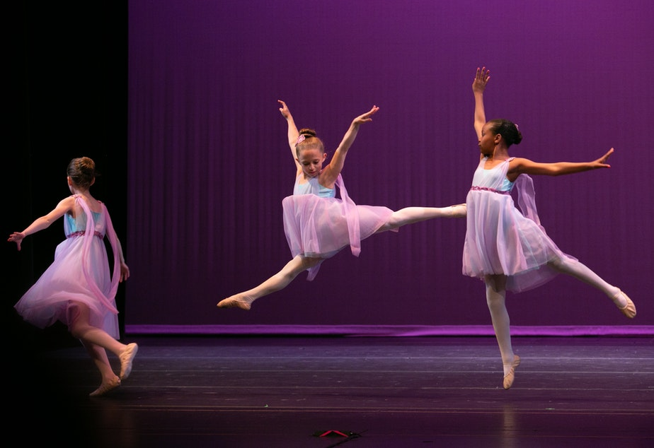 caption: Students in Spectrum's dance school perform