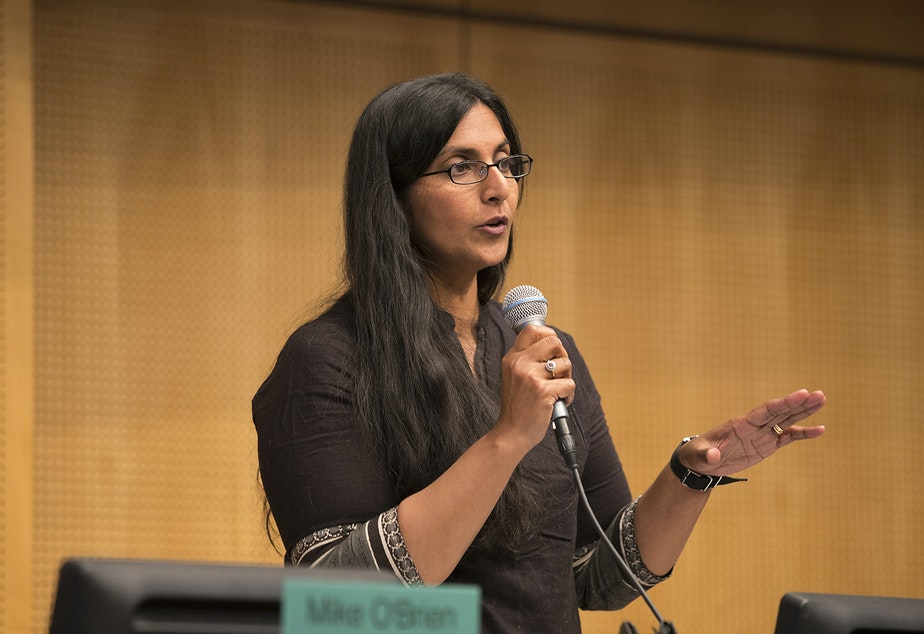 caption: The MLK Labor Council worked to elect Kshama Sawant in 2015, but endorsed her opponent in the 2019 election.