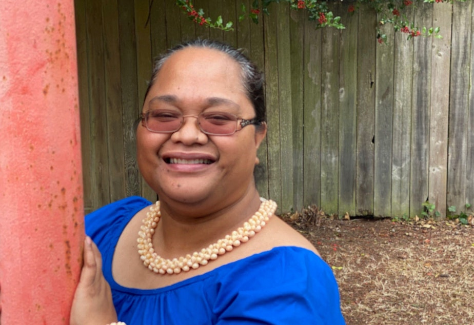 caption: Marshallese community advocate, Cecilia Takiah Heine, has helped dozens of people navigate the unemployment benefit system.