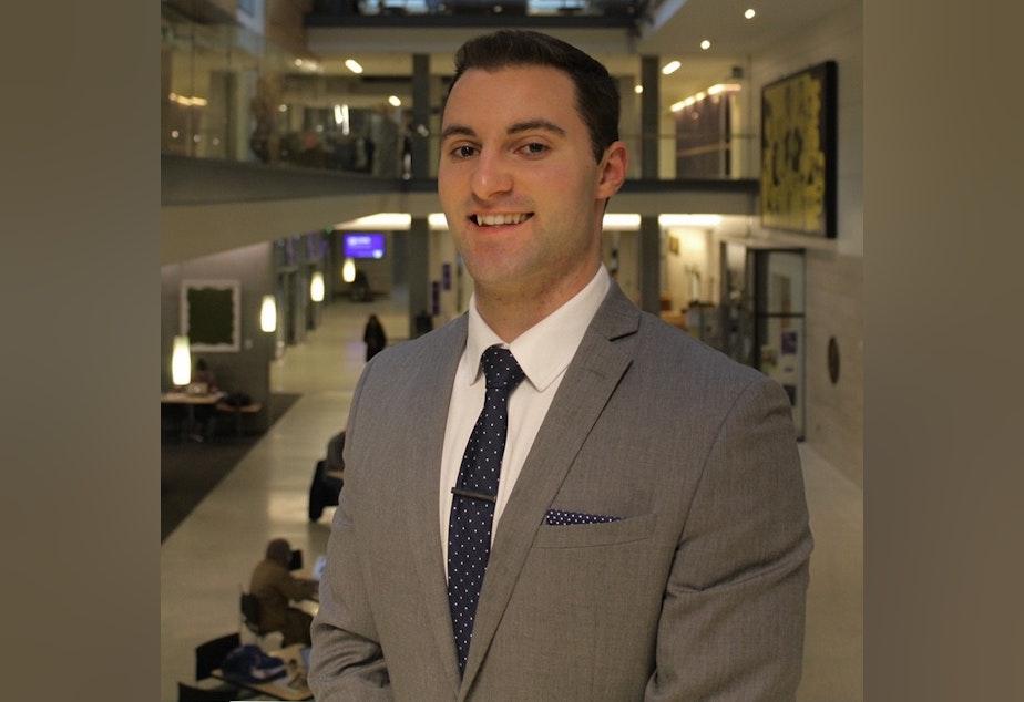 caption: Nick Baldini is a senior at the University of Washington.