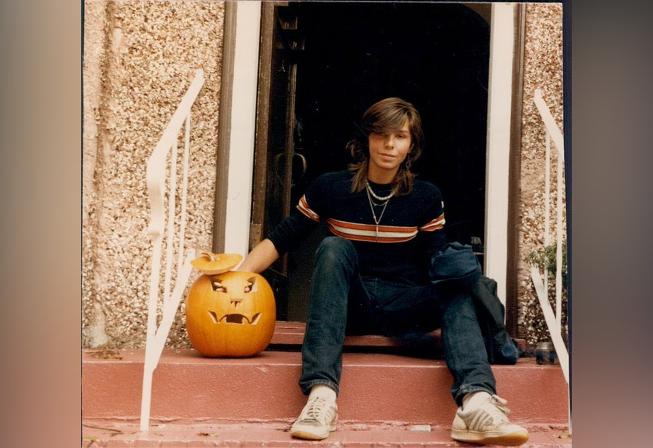 caption: Jay Cook with a Halloween pumpkin shortly before he was killed in November of 1987. Jay was 20 at the time of his death.