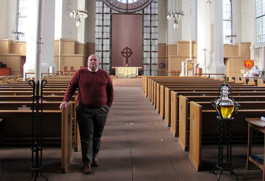 caption: St. Mark's Dean Steven Thomason says the cathedral has a civic mission as well.