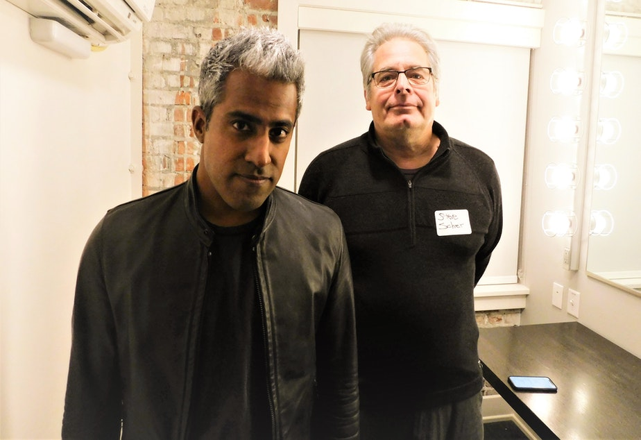 Anand Giridharadas with Steve Scher at Town Hall Seattle