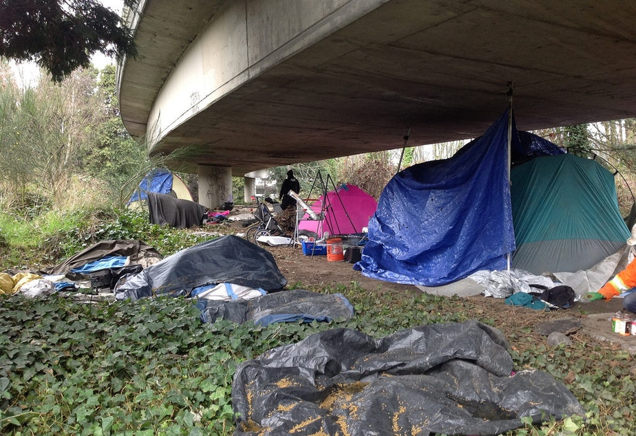 A homeless encampment in what the city calls the I-5 East Duwamish Greenbelt. It's unofficially known as The Jungle. But officials say they are preparing to move the people who live here.