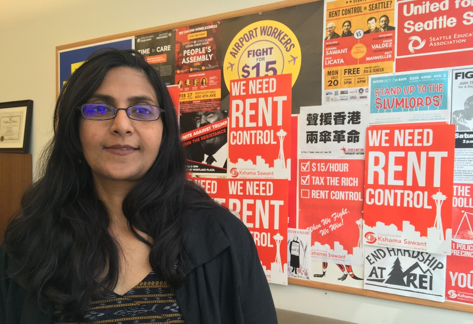 Kshama Sawant at her city council office
