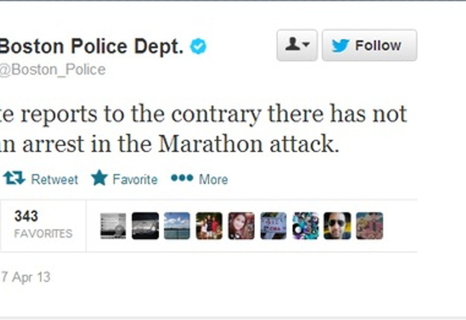 caption: Twitter exploded with misinformation during the Boston Marathon, but research Kate Starbird said that first response organizations were an example of good social media during a crisis.