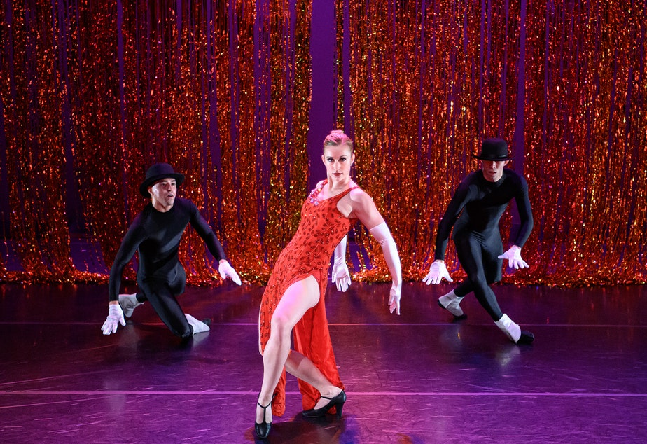 "caption: Spectrum dancer Jaclyn Wheatley in Donald Byrd's ""Harlem Nutcracker,"" 2019"