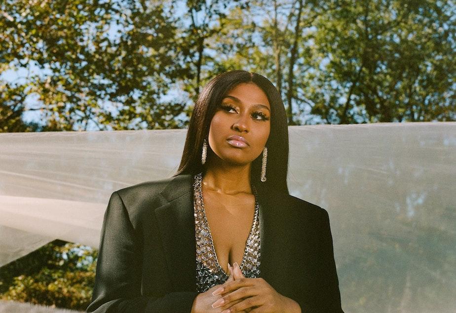 caption: R&B singer-songwriter Jazmine Sullivan released <em>Heaux Tales</em> on Jan. 8.