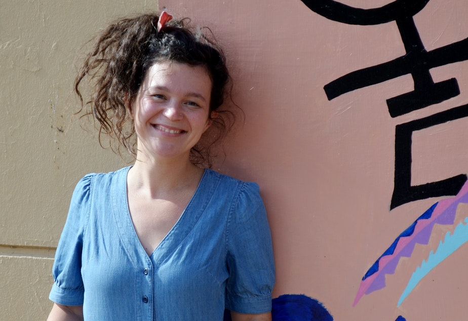caption: Annie Dugas teaches language arts at Rainier Beach High School.