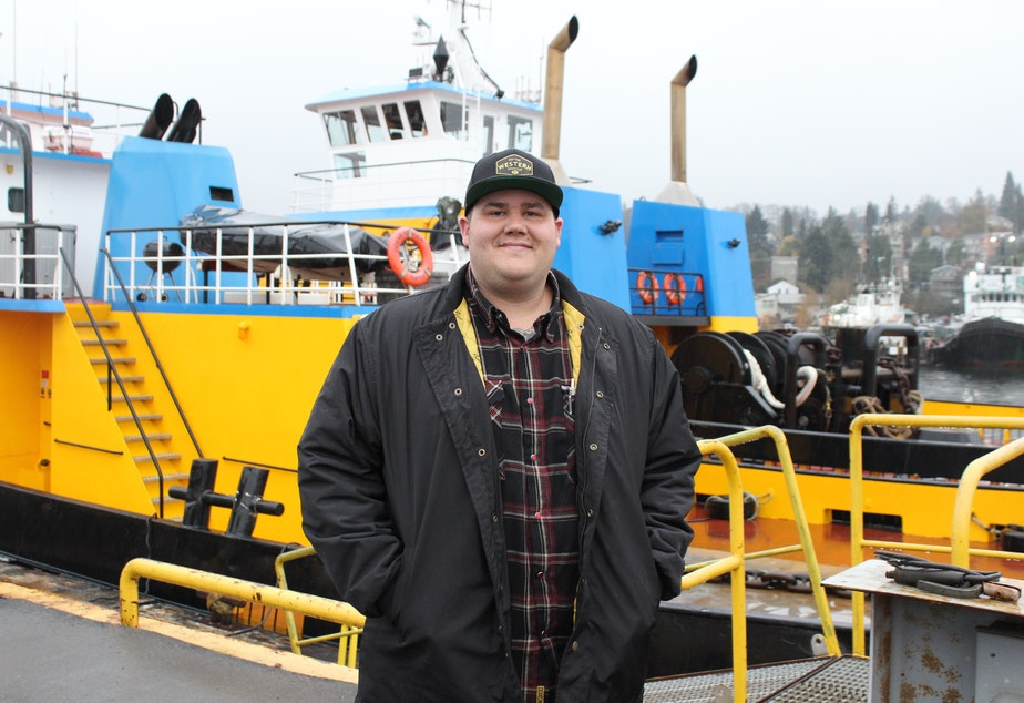 Russell Shrewsbury is a tugboat captain and vice president of Western Towboat, a family-owned company since 1948. Shrewsbury says it's not easy to stop a barge under tow. If the drawbridge doesn't open in time, 'it can get interesting.'