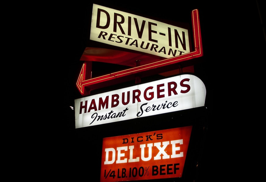 caption: The Dick's Drive-In in Seattle's Wallingford neighborhood.
