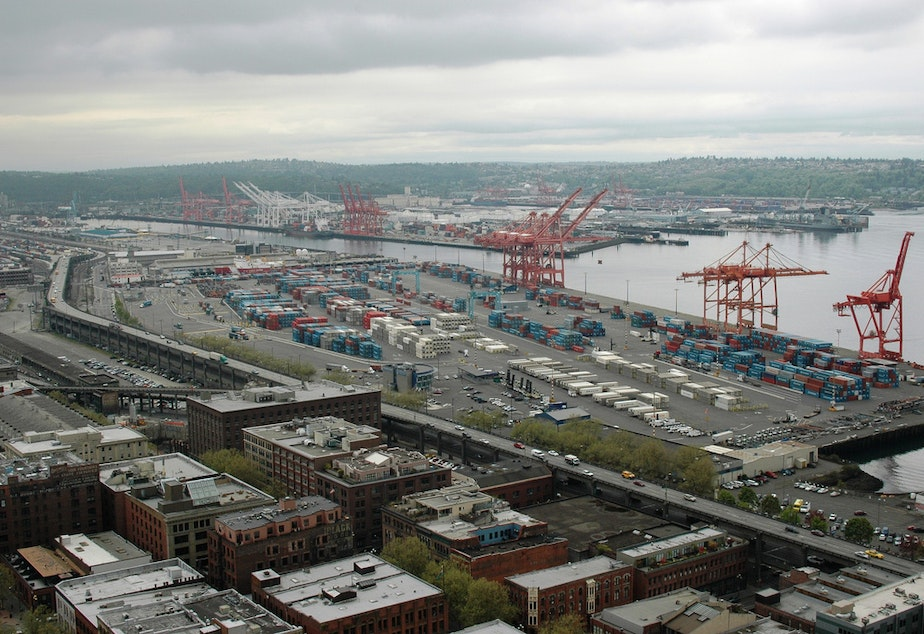 caption: Port of Seattle.