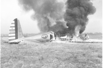 """On October 30, 1935, a Boeing plane known as the """"flying fortress"""" crashed during a military demonstration in Ohio — shocking the aviation industry and prompting questions about the future of flight."""