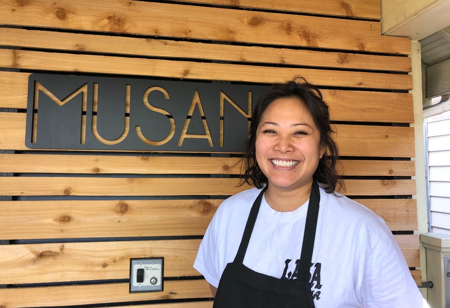 caption: Melissa Miranda, chef owner of Musang, a Filipino-focused restaurant in Seattle's Beacon Hill.