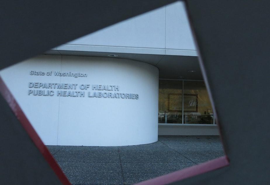 caption: The Washington State Department of Health public health lab in Shoreline, Wash.