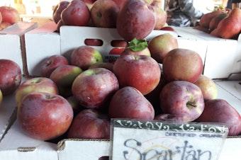 Spartan apples at the Capitol Hill farmer's market.