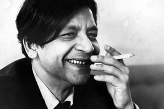 """V.S. Naipaul, seen here in 1968, once told NPR, """"It's important to avoid the wallow. It repels the reader."""""""