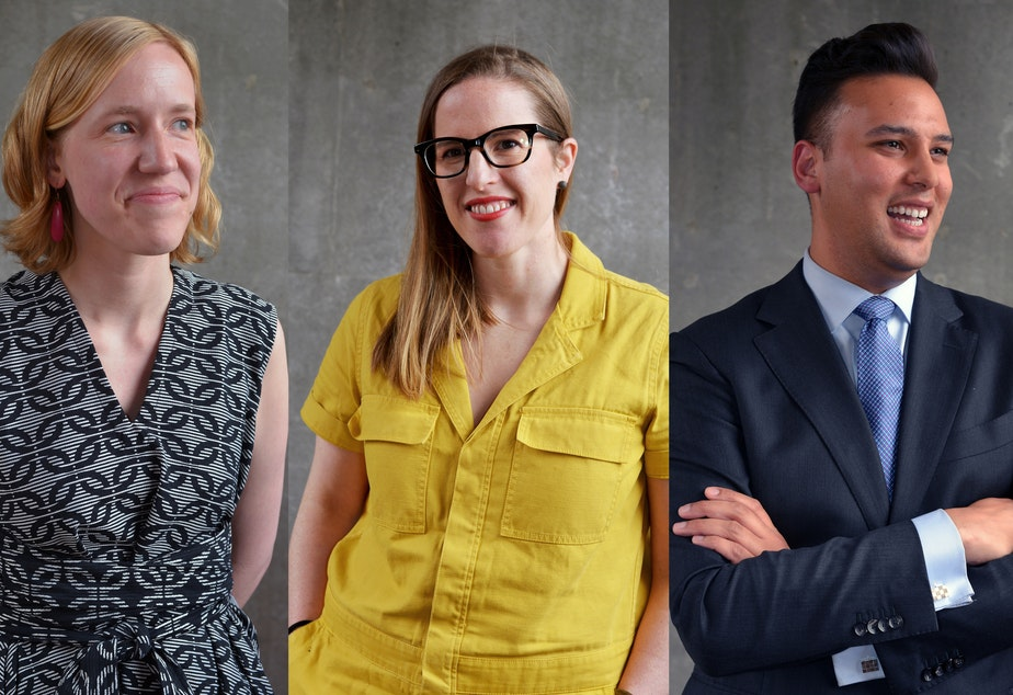 Clara Berg, Dana Landon, and Andrew Hoge.