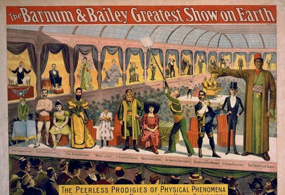 Barnum & Bailey sideshow advertisement.