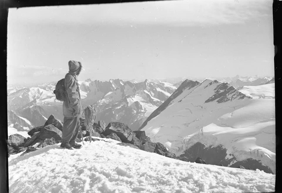 caption: Jodi Zybul bid on a box of negatives. When they arrived, she found mountaineering images from the 1940s through 1960s.