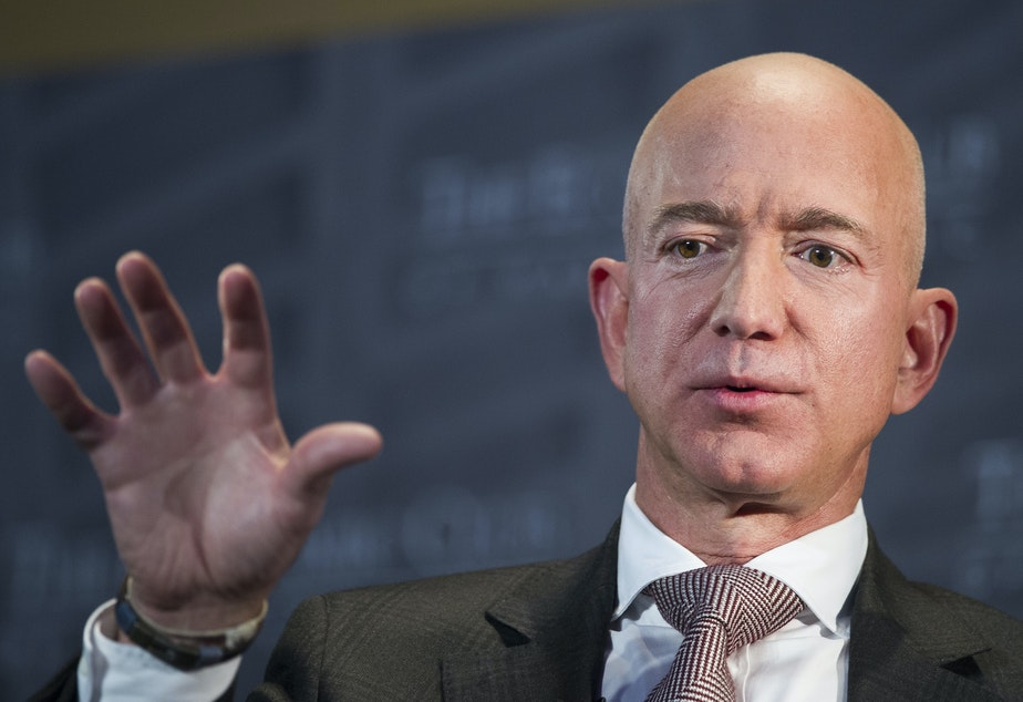caption: The phone of Jeff Bezos, Amazon CEO and owner of <em>The Washington Post</em>, reportedly was hacked via a WhatsApp account owned by Saudi Crown Prince Mohammed bin Salman.