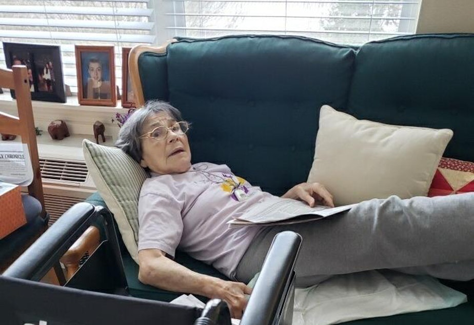 caption: Suburban Seattle resident Helen Molina died of Covid-19 in April, a few weeks after this picture was taken. Her passing is emblematic of the vulnerability of people with Alzheimers and dementia during the pandemic.