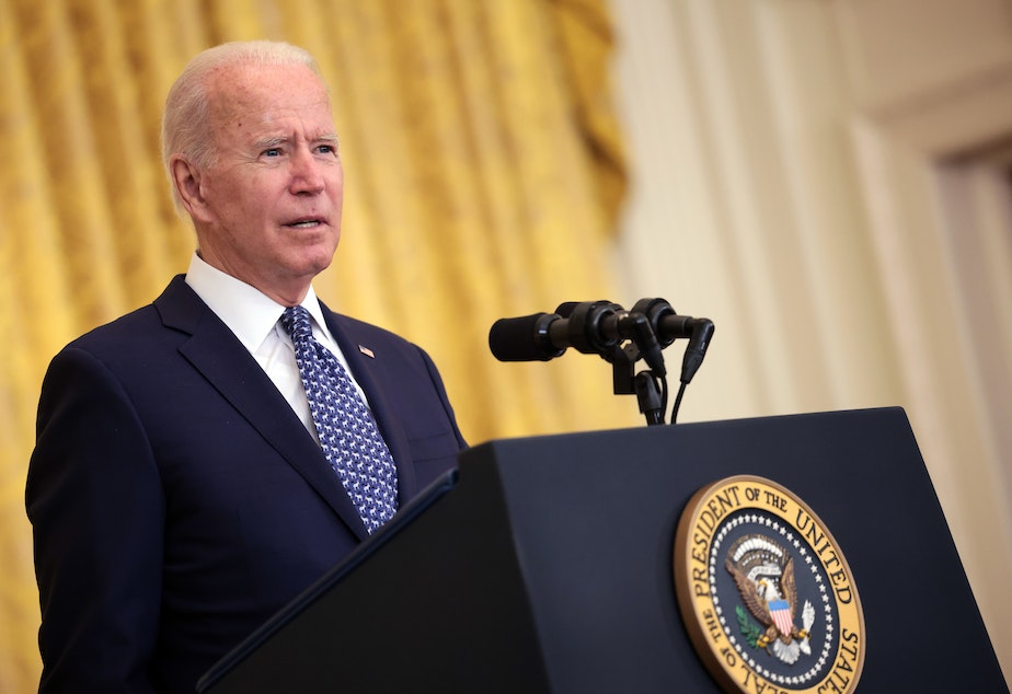 caption: President Biden's strategy will eliminate an option for unvaccinated workers to be regularly tested instead, a source familiar with the decision tells NPR.
