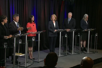 Top candidates for Seattle mayor debate in a forum hosted by KING 5 and KUOW.