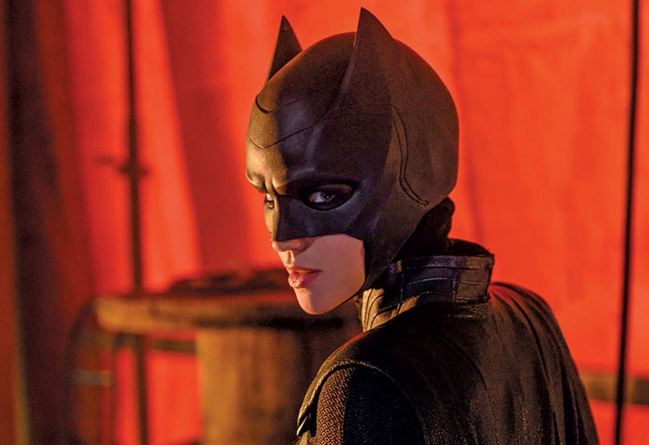 caption: Ruby Rose played the lead in the first season of Batwoman, a series which continues to be filmed in Vancouver.