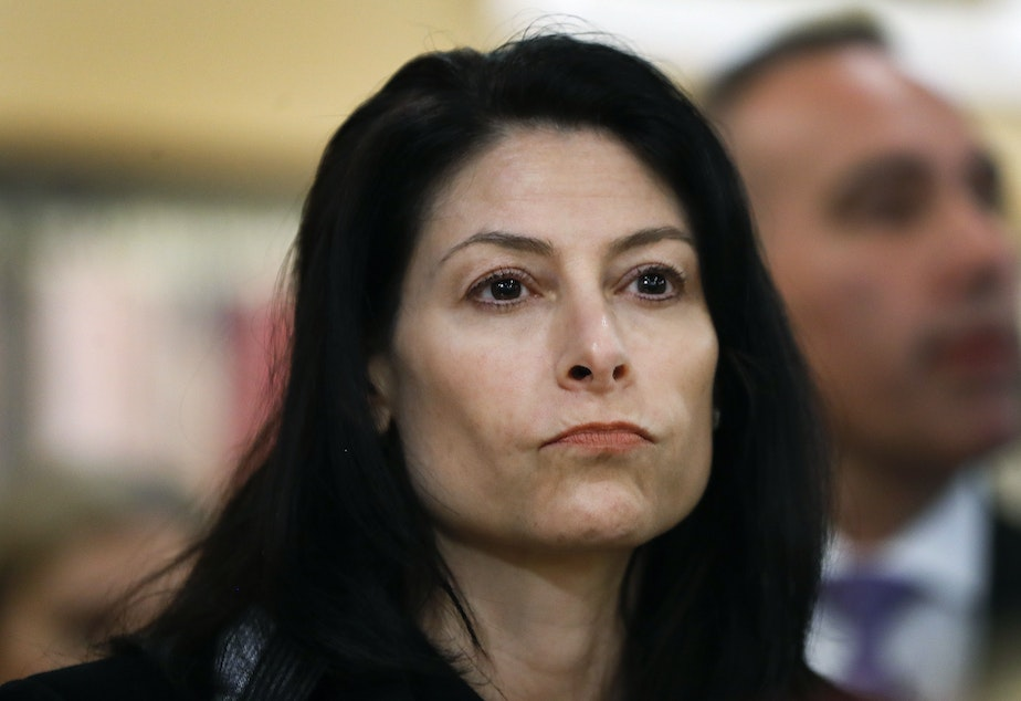 caption: Michigan Attorney General Dana Nessel, pictured in March 2019, told NPR the threat posed by individuals subscribing to extremist ideology is a nationwide problem.