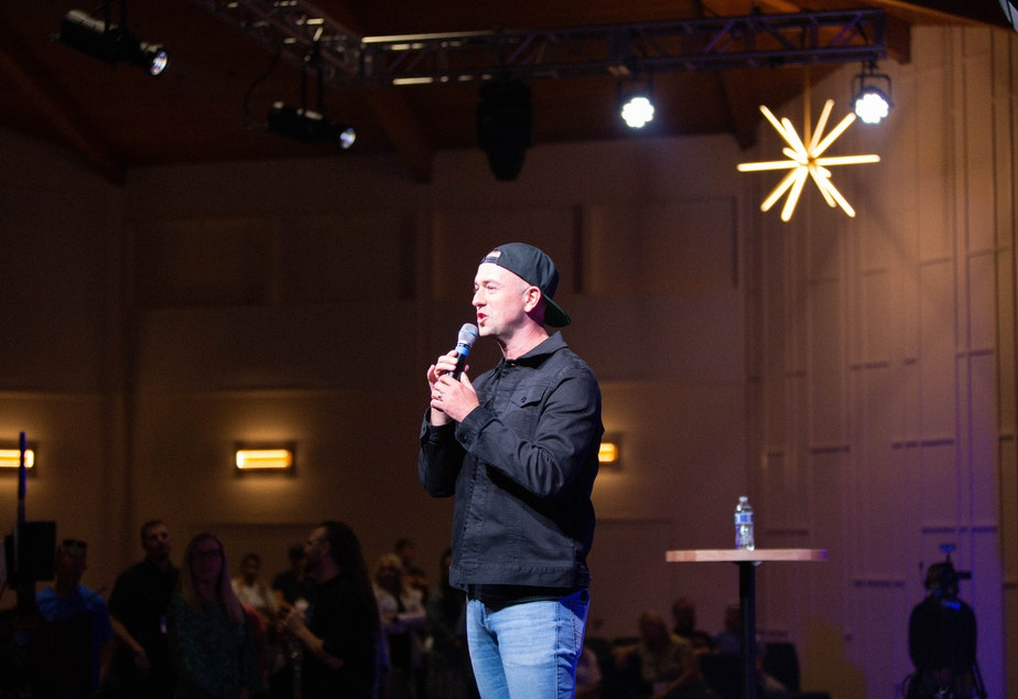 caption: Lead pastor of Seattle Revival Church, Darren Stott.