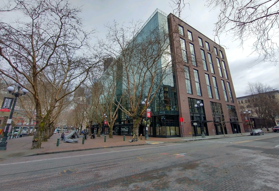 caption: Weyerhaeuser Headquarters, Occidental Park.jpg