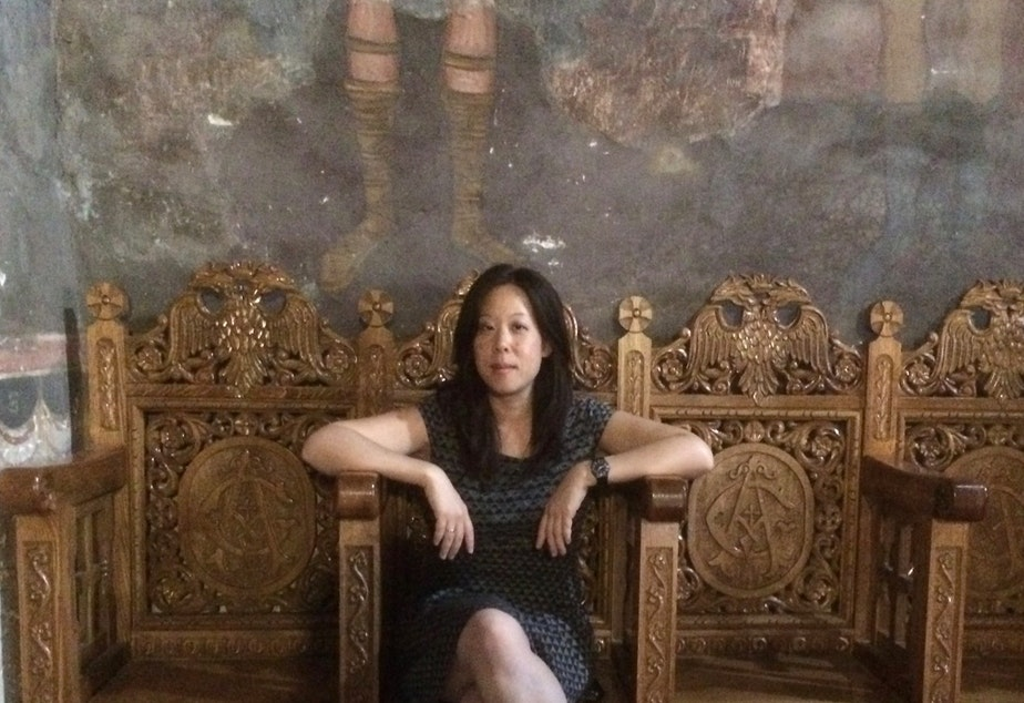 caption: Seattle-based, Taiwanese American poet Shin Yu Pai.