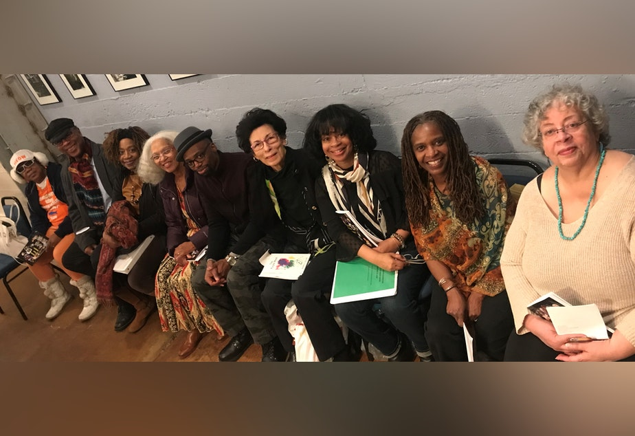 caption: Seattle's African-American Writers' Alliance members at The Elliott Bay Book Company