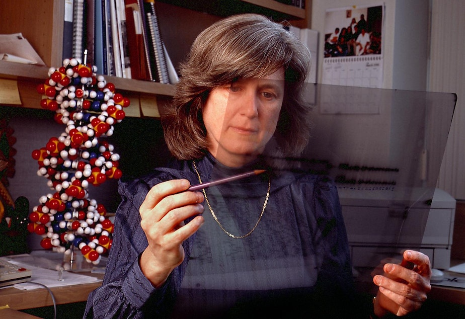 caption: Dr. Mary-Claire King