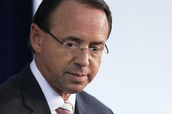 Deputy Attorney General Rod Rosenstein's fate at the Justice Department appeared uncertain on Monday.