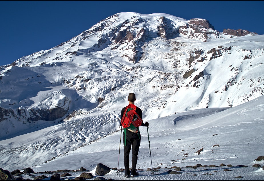 caption: A cell phone tower at Paradise could bring coverage to much-visited parts of Mount Rainier National Park.