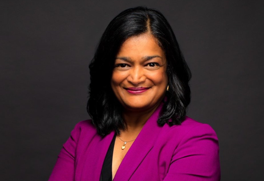 caption: Congresswoman Pramila Jayapal