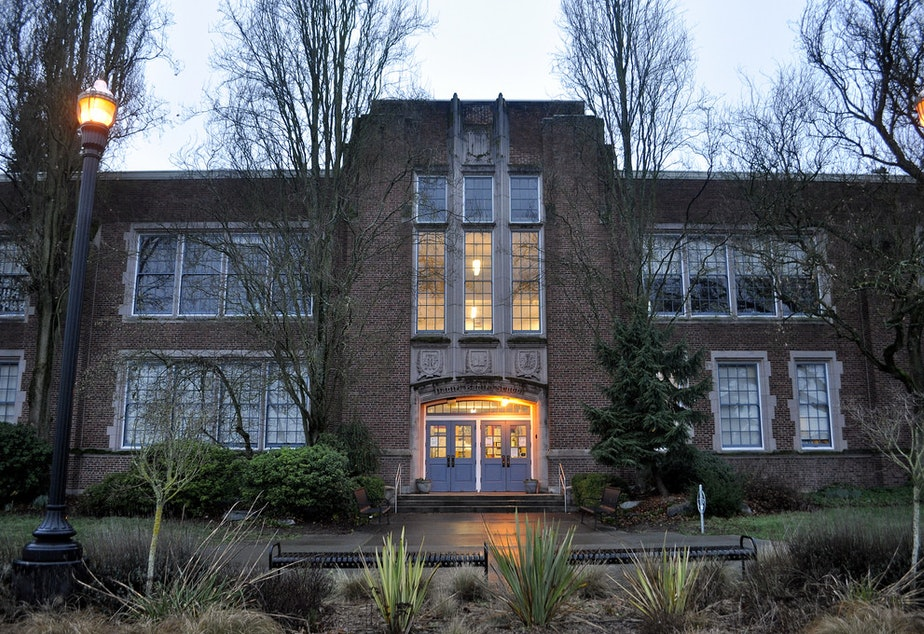 caption: Daniel Bagley Elementary School in north Seattle.
