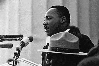 """Martin Luther King, Jr. delivers his seminal """"I Have a Dream"""" speech."""