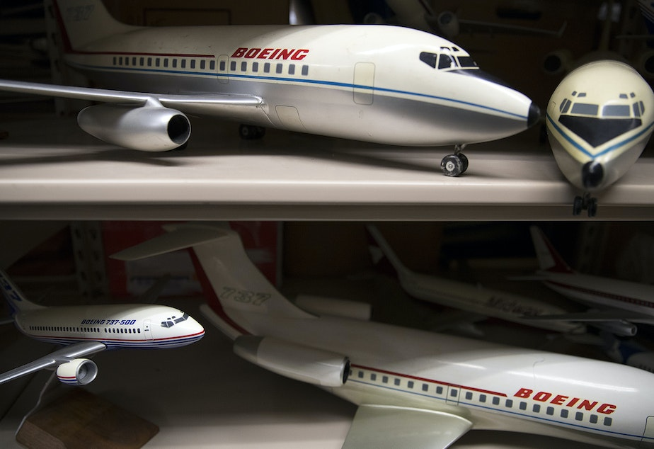 Model airplanes are stored at the Boeing Historical Archives on Friday, September 15, 2017, in Bellevue.