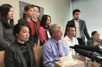 Tommy Le's family and attorneys announce their decision to file a $20 million wrongful death and civil rights violation lawsuit against King County, the King County Sheriff's Office and (former) Sheriff John Urquhart in 2017.