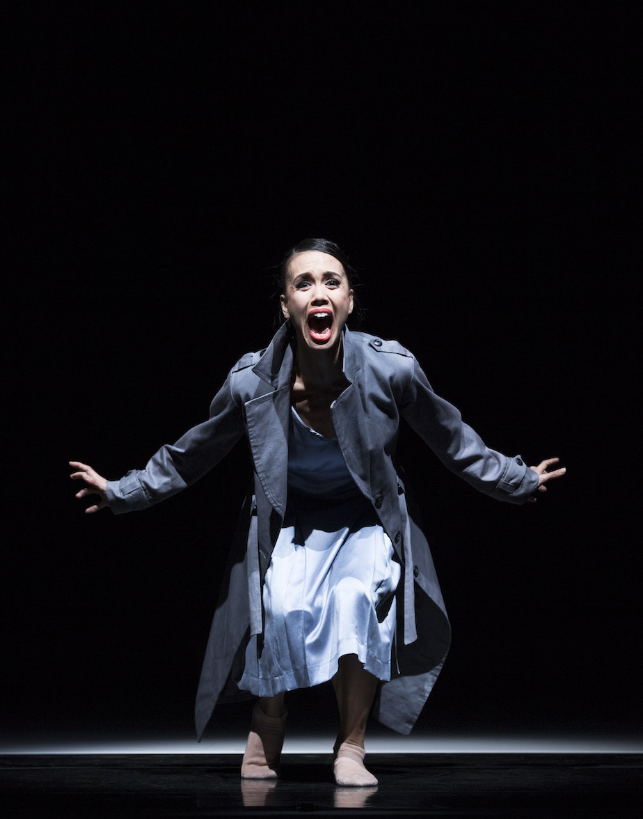 "caption: Noelani Pantastico in Crystal Pite's ""Plot Point"""