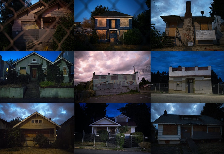 caption: Vacant buildings around Seattle