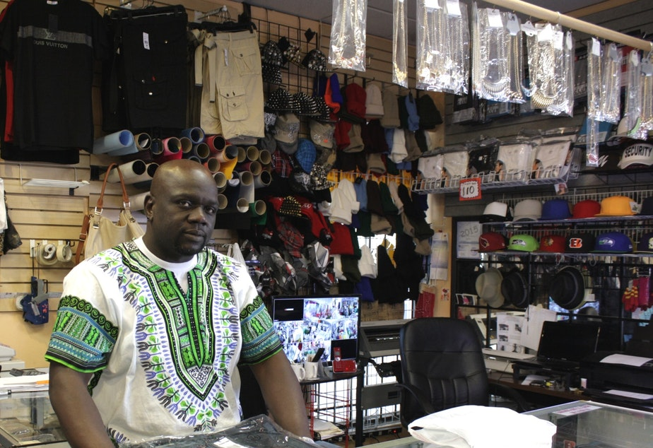 Moe Toure runs Toure Apparel in a strip mall on one of Vulcan Real Estate's 23rd Avenue properties.