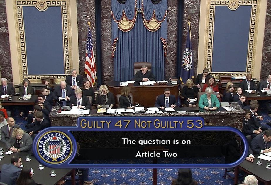 The Senate votes on whether to impeach President Trump on Feb. 5, 2020.