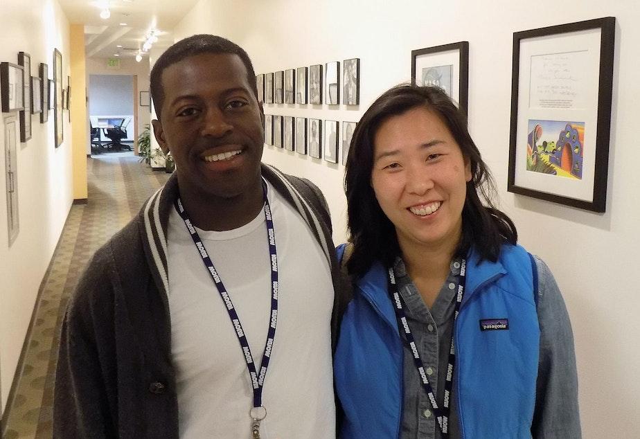 caption: Chefs Edouardo Jordan and Rachel Yang.