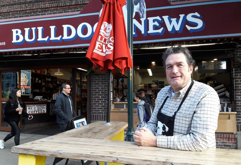 Doug Campbell owns Bulldog News on the Ave.