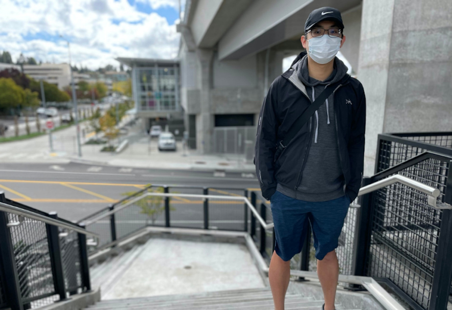 caption: Shuan Kuo grew up across the street from Northgate Mall, an area that is going through massive changes and redevelopment that includes a newly open light rail station.